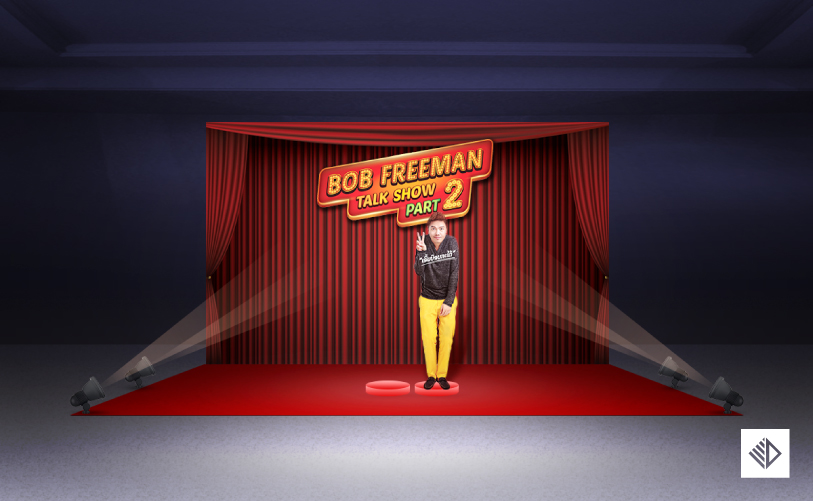 Event Design - Bob Freeman Show photo backdrop