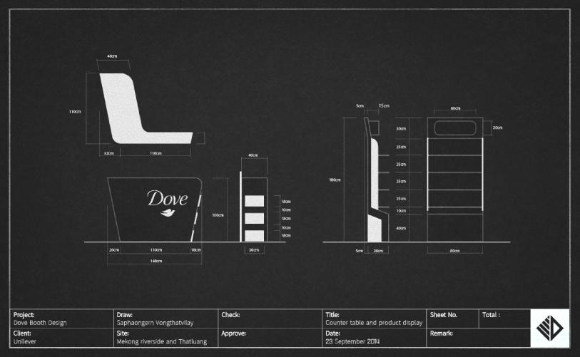Event Design - Dove booth design specification