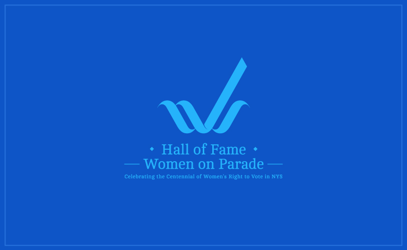 Logo Design - Hall of Fame Women on Parade blue