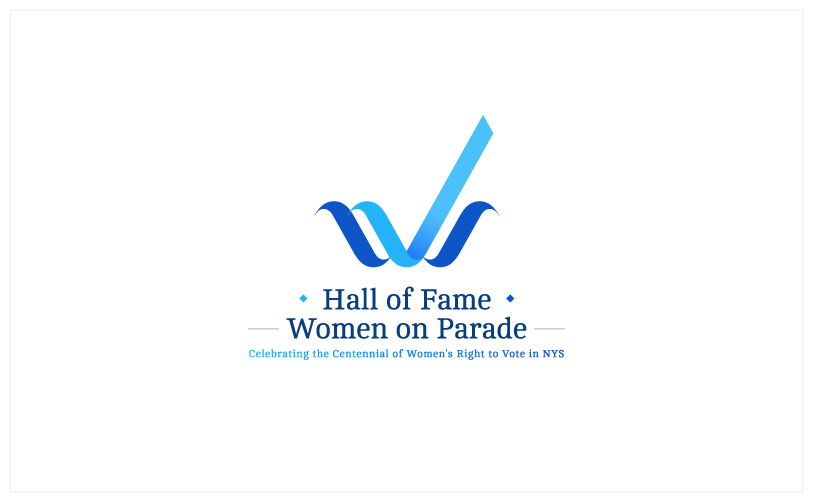 Logo Design - Hall of Fame Women on Parade white