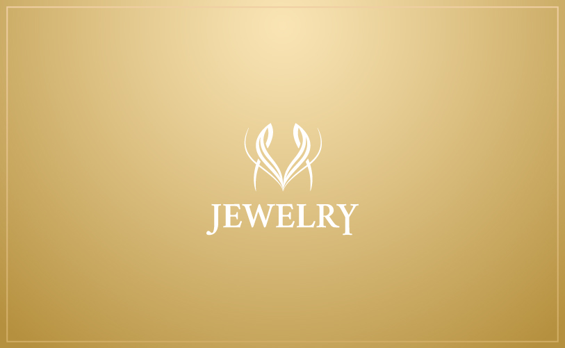 Logo Design - M Jewelry gold
