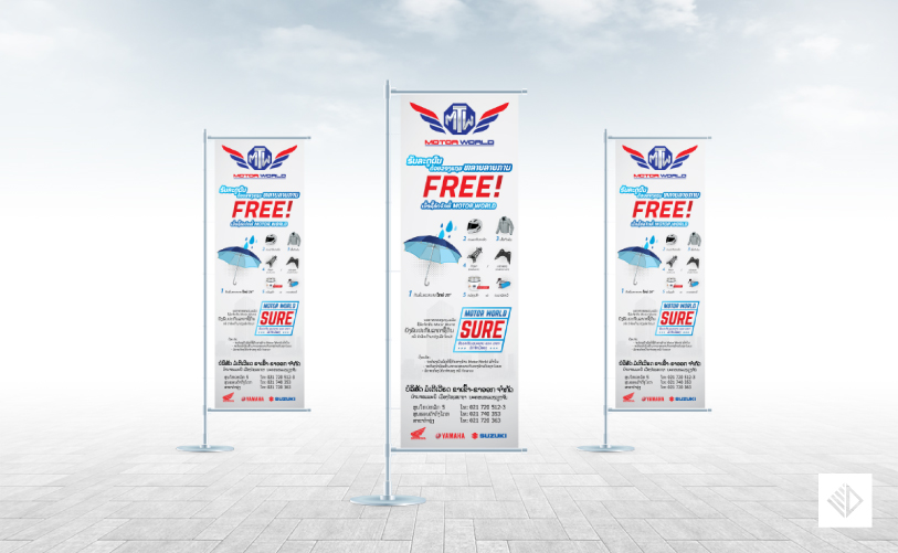 Graphic Design - Motor World Promotion J-flag