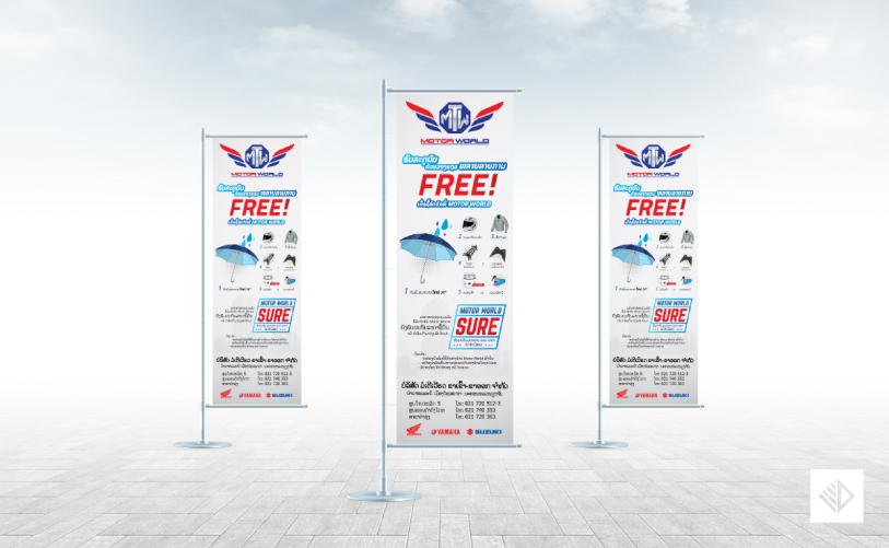 Graphic Design - Motor World Promotion J-flag