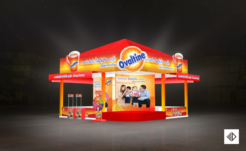 Event Design - Ovaltine Booth at festival