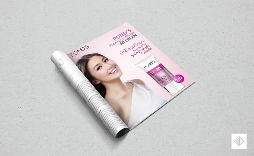 Graphic Design - POND'S BB Cream magazine advertisement