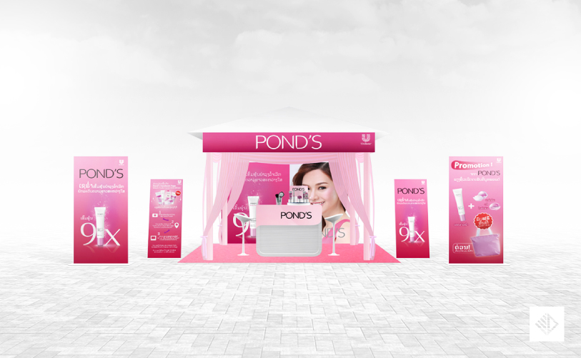 Event Design - POND'S Serum booth