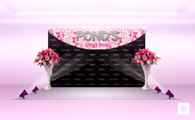 Event Design - POND'S dewy rose photo backdrop