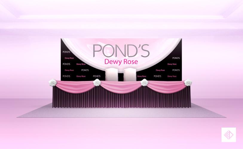 Event Design - POND'S dewy rose registration