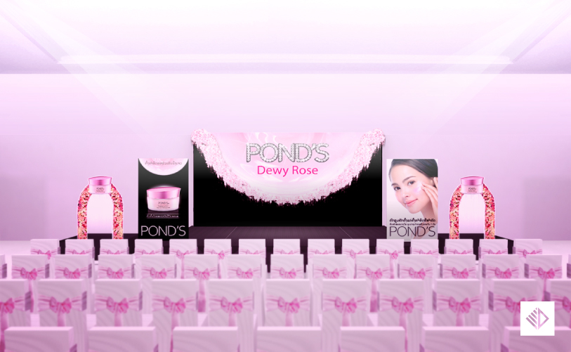 Event Design - POND'S dewy rose stage