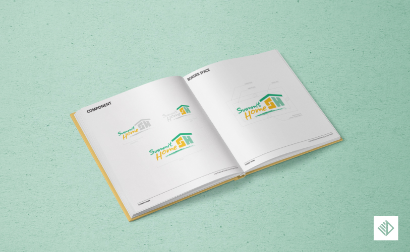 Logo Design - Summit Home manual guideline 2