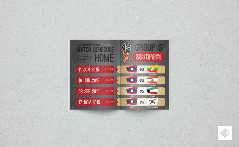 Graphic Design - World Cup Qualifiers Booklet 5