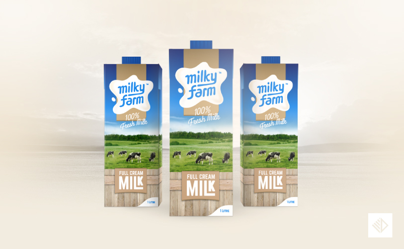 Brand Design - Milky Farm package