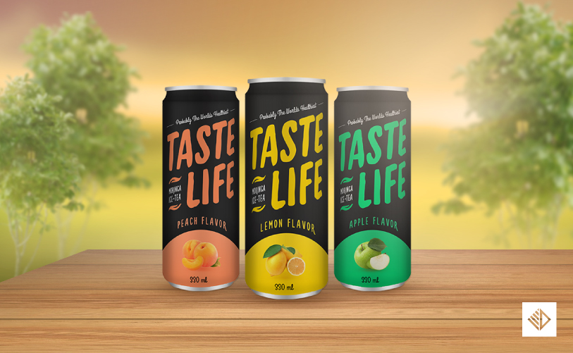 Package Design - Taste Life Drink package