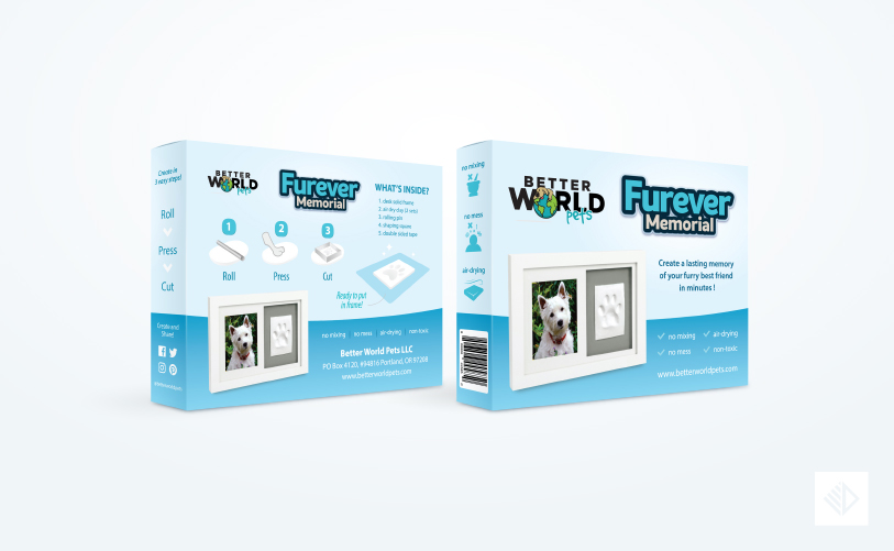 Package Design - Better World Pets package solid frame ສັດລ້ຽງ