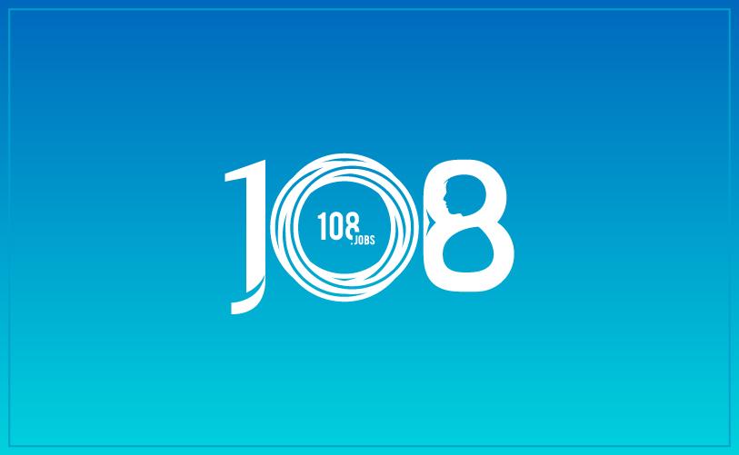108 jobs logo mono